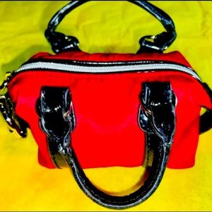 Mini keychain purses - red
